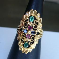 K18色々石指輪.JPG